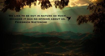 nature has no opinion